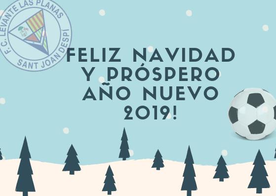 FELIZ NAVIDAD Y PRÓSPERO AÑO NUEVO 2019!